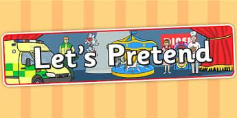 Lets Pretend IPC Display Banner - lets pretend, IPC, banner