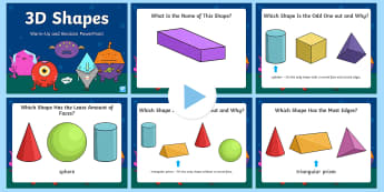 3D Shapes Warm Up and Revision PowerPoint - Mental Maths, Warm up, Revision, Powerpoint, 3d shapes, cube, cuboid, sphere, pyramid, prism, cone.