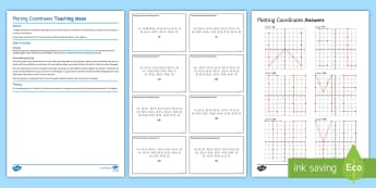 Secondary Event Transition 22/05/17 Plotting Coordinates Activity Pack - group work, graphs, puzzle, x y axis, co-ordinates, Secondary Transition Resources