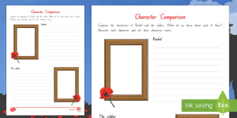 Character Comparison Activity to Support Teaching on ANZAC Biscuits  - New Zealand, Anzac Day, 25 April, ANZAC, Poppies, phil cummings, World War 1, World War 2, Gallipoli