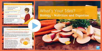 KS3 Nutrition and Digestion What's Your Idea? PowerPoint