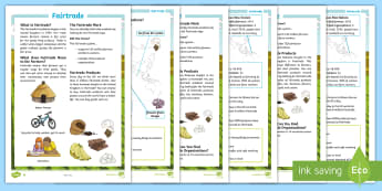 Fairtrade Differentiated Fact File - KS2, comprehension, reading, reading comprehension, reading activity, fairtrade, around the world, g