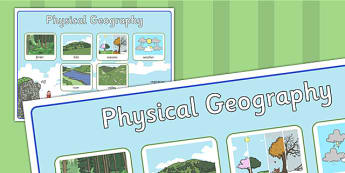 Physical Geography Large Poster - physical, geography, poster