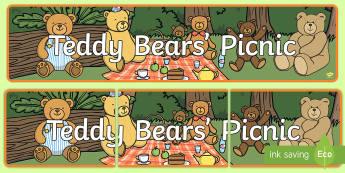 Teddy Bear Banner - - teddy bear, picnic, ks1, eyfs,
