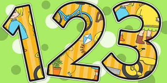 Themed Display Numbers to Support Teaching on Titch - story books, numbers, display