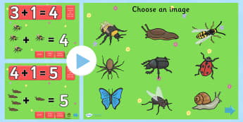 Minibeast Themed Addition PowerPoint - minibeast, addition, adding, plus, powerpoint, addition powerpoint, numeracy, numeracy powerpoint, themed addition