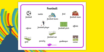 Football Word Mat - Word mat, Football, Soccer, Sport, Topic, Foundation stage, footballs, world cup