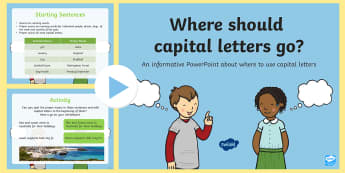 Where Should Capital Letters Go Lesson Teaching PowerPoint