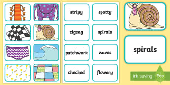 Pattern Picture and Word Match Activity - pattern, sequence, matching, game, activity, reading, continuous provision, independent activity, ad