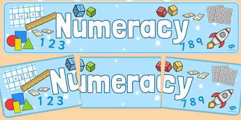 Numeracy Display Banner - Numeracy, display banner, maths display banner, mathematics display banner, numeracy banner, numeracy display