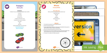 Transport Sensory Bin and Resource Pack - cars, trains, airplanes, aeroplanes, boats, ships, sensory tray, tuff spot, tuff tray