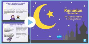 Ramadan Information PowerPoint English/Romanian - Ramadan Information PowerPoint - ramadan, islam, information, mohammed, muhammed, ramadam, ramadhan,