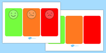 Behaviour Management Traffic Light Face Cards - Communication cards, traffic lights