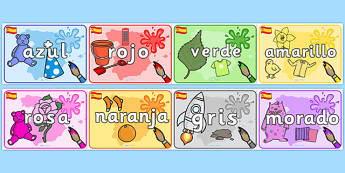 Spanish Colour Items Display Posters -displays, poster, Spain