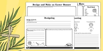 Design and Make an Easter Bonnet Booklet - designing, bonnets