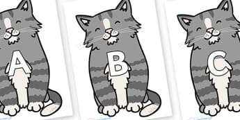 A-Z Alphabet on Kittens - A-Z, A4, display, Alphabet frieze, Display letters, Letter posters, A-Z letters, Alphabet flashcards