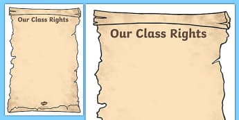 Our Class Rights Template - Our Class Rights, class, rights, charter, common, template, blank, creative, activity, rules, America, natives, constitution, freedom, right