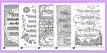 Classroom Inspiration Quotes Mindfulness Colouring Sheets - classroom, inspiration, quotes, mindfulness colouring, sheets