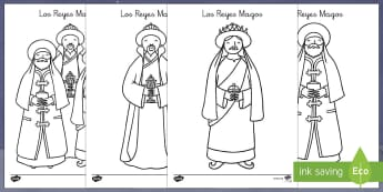 The Three Wise Men Colouring Sheet