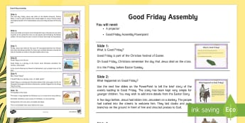 Good Friday Assembly Script - KS1 Easter 2017 (16th April)