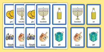 Hanukkah Pairs Matching Game - pair, match, activities, activity