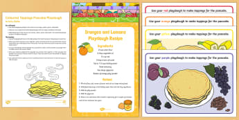 Coloured Toppings Pancake Playdough Busy Bag Resource Pack for Parents - EYFS, Pancake Day,February, 28th, Shrove Tuesday, pancake, colours, playdough, play dough, play doh,
