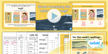 PlanIt Spelling Year 5 Term 3A W1: Words Containing the Letter String 'ough' Spelling Pack - Spellings Year 5, Y5, Year 5, spelling, spag, gps, letter string, appendix 1, statutory, ough words,