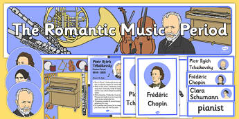 Romantic Period Music Display Pack - romantic period, display