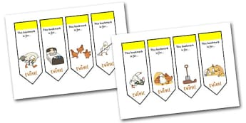 Farmer Duck Editable Bookmarks - farmer duck, editable, editable bookmark, bookmarks, awards, bookmark awards, reading, reward bookmarks, themed bookmarks