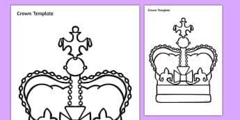 Crown Template Activity Sheet, worksheet