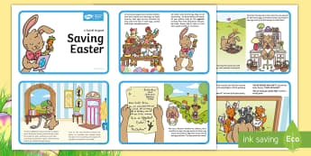 Saving Easter Sequencing Cards - Children's Books, saving easter, easter, easter bunny, easter eggs, story, sequencing, ordering, ev