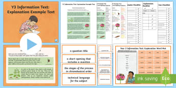 Y3 Information Texts: Explanation Example Text - Example Texts, Y3, explanation, genre, WAGOLL, exemplar, non-fiction, text, information, chronologic