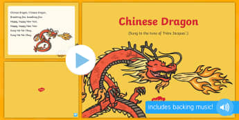 Chinese Dragon Song PowerPoint - EYFS, Early Years, Key Stage 1, KS1, Chinese New Year, festivals, Spring Festival, dragon dance, red