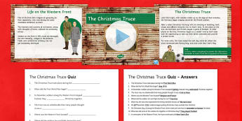 The Christmas Truce 1914 Resource Pack - KS3/4 History Christmas Resources, First World War, truce, 1914