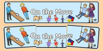 On the Move Display Banner - australia, On the Move, science, kindergarten, banner, wall display, Australian Curriculum