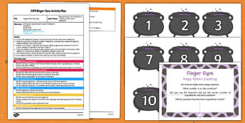 EYFS Magic Potion Counting Finger Gym Plan and Resource Pack