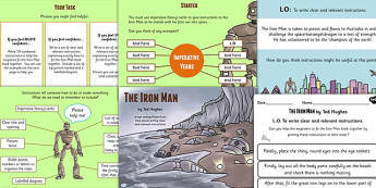 The Iron Man Instructions Lesson Teaching Pack - story books