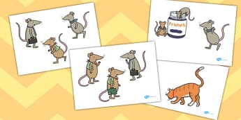 The Town Mouse And The Country Mouse Stick Puppets - role play