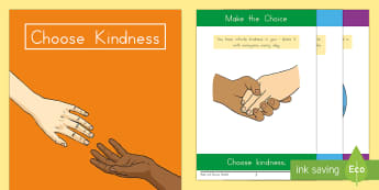 Choose Kindness Read and Discuss Activity Booklet - kindness, choose kindness, friendship, relationships, caring, booklet,