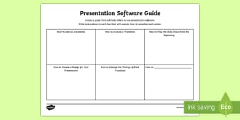 Presentation Software Guide Activity Sheet - CfE Digital Learning Week (15th May 2017), Digital learning and teaching strategy, digital literacy,