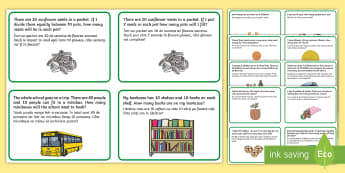 Multiplication and Division Challenge Cards - English/Romanian - Multiplication and Division Challenge Cards - times table, divide, mulitplication, multipication, EA