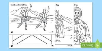 Saint Andrew's Day Colouring Pages