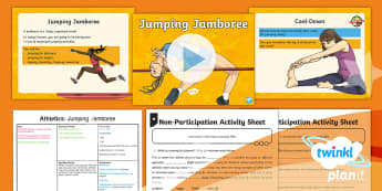 PlanIt - PE Year 5 - Athletics Lesson Pack Lesson 4: Jumping Jamboree - PE, PlanIt, Y5, KS2, Athletics, jump, jumping, long jump, high jump, triple jump, standing long jump