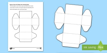 Square Prism 3D shape net Activity Sheet