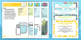 EYFS Under the Sea Science Experiments Resource Pack