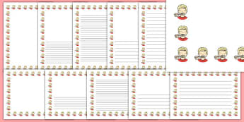 Brushing Teeth Page Borders- Page Borders - Page border, border, writing template, writing aid, writing frame, a4 border, template, templates, landscape