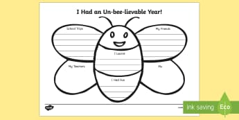 End of Year Bee Activity Sheet