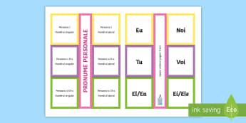 Categoriile pronumelui personal De lipit în caiete-Romanian - substantiv, de lipit, caiet, lipit, categorii, numărul, persoana, romanian, parti de vorbire, numar