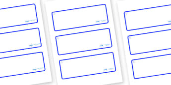Snowflake Themed Editable Drawer-Peg-Name Labels (Blank) - Themed Classroom Label Templates, Resource Labels, Name Labels, Editable Labels, Drawer Labels, Coat Peg Labels, Peg Label, KS1 Labels, Foundation Labels, Foundation Stage Labels, Teaching La