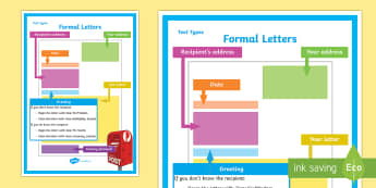 Formal Letters Display Poster - Formal Letters  Display Poster, text types, australian curriculum, formal letters, formal letter pos